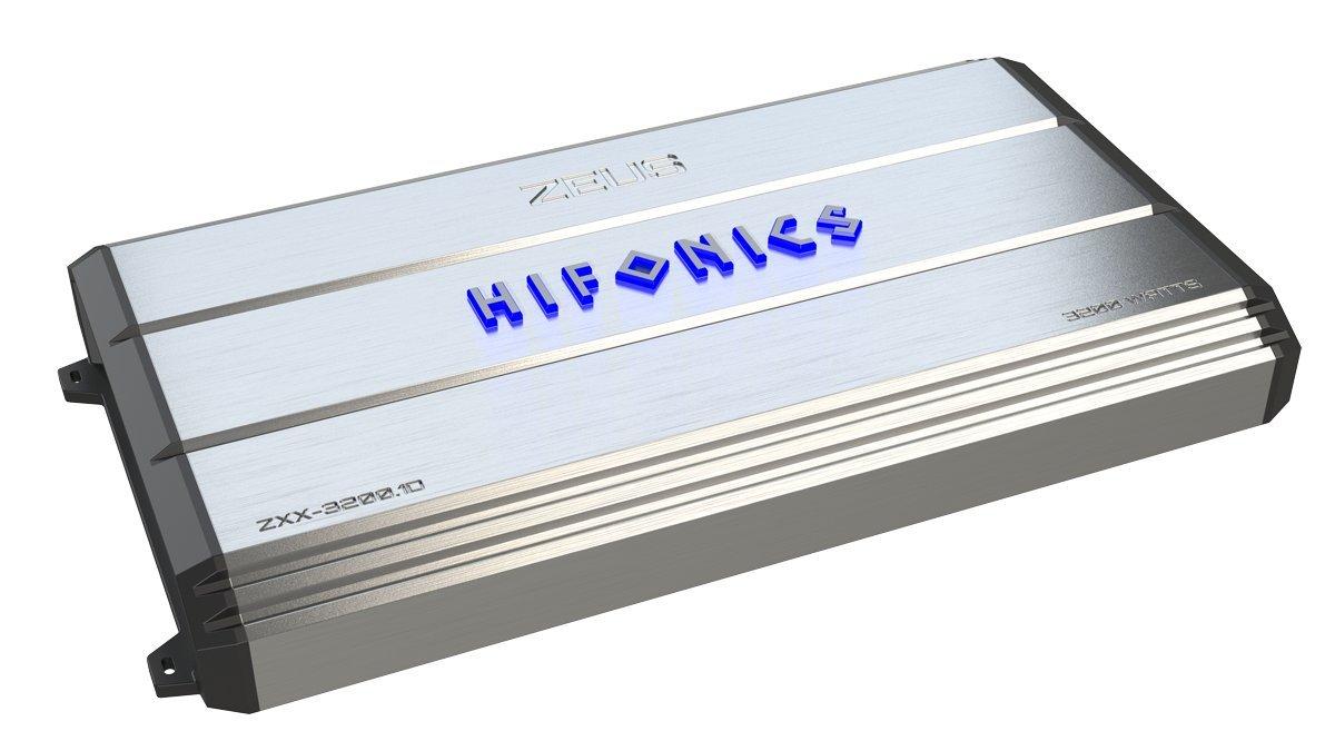 Hifonics ZXX- 3200.1D, 3200 Watt Mono, Class D, 1 ohm Stable, Subwoofer Car Audio Amplifier, Car Audio, Amplifier, Car Audio, Class A&B Powered Options