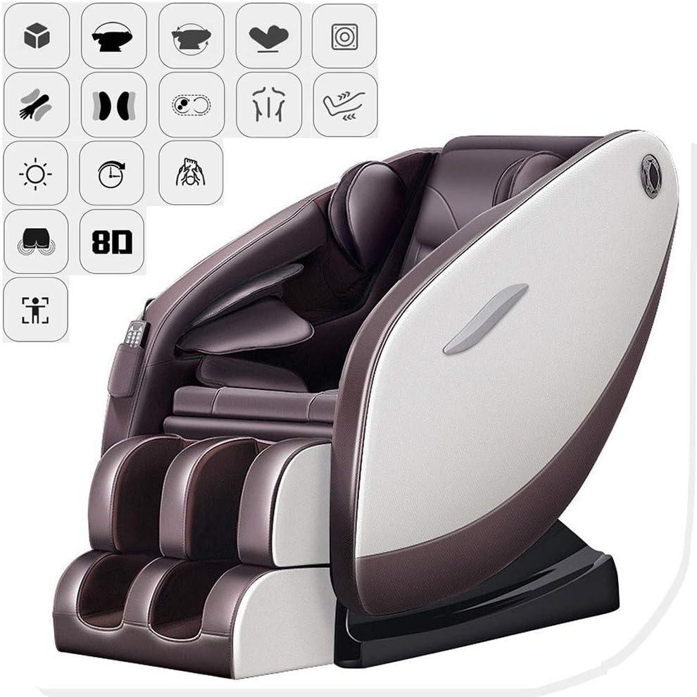 Armchair Silla eléctrica Masaje Relax Sillón Gravedad Cero/Bluetooth Música/Placer/Volver compresa Caliente/Hip vibración/Rodillo del pie/masajes masajeador temporizado
