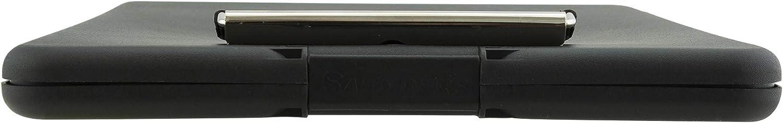 Saunders SlimMate apertura superiore 24 x 33,5 cm colore: nero pink Tavoletta portablocco con aletta