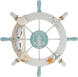 WINOMO Wheel Wall Decor Nautical Decor Nautical Boat Steering Wheel