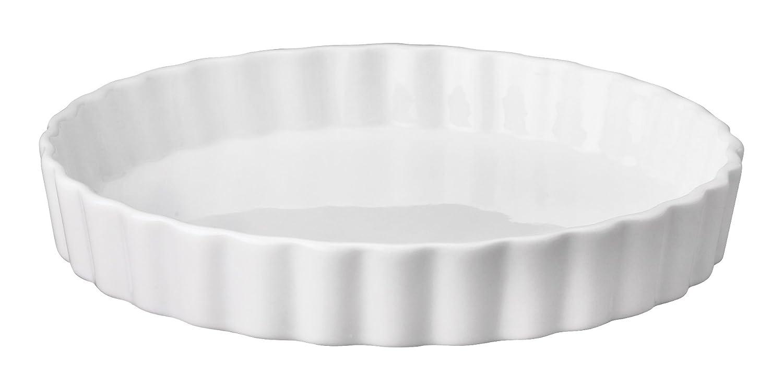 HIC Harold Import Co. 98015 Quiche Dish Round, 8 Inch White