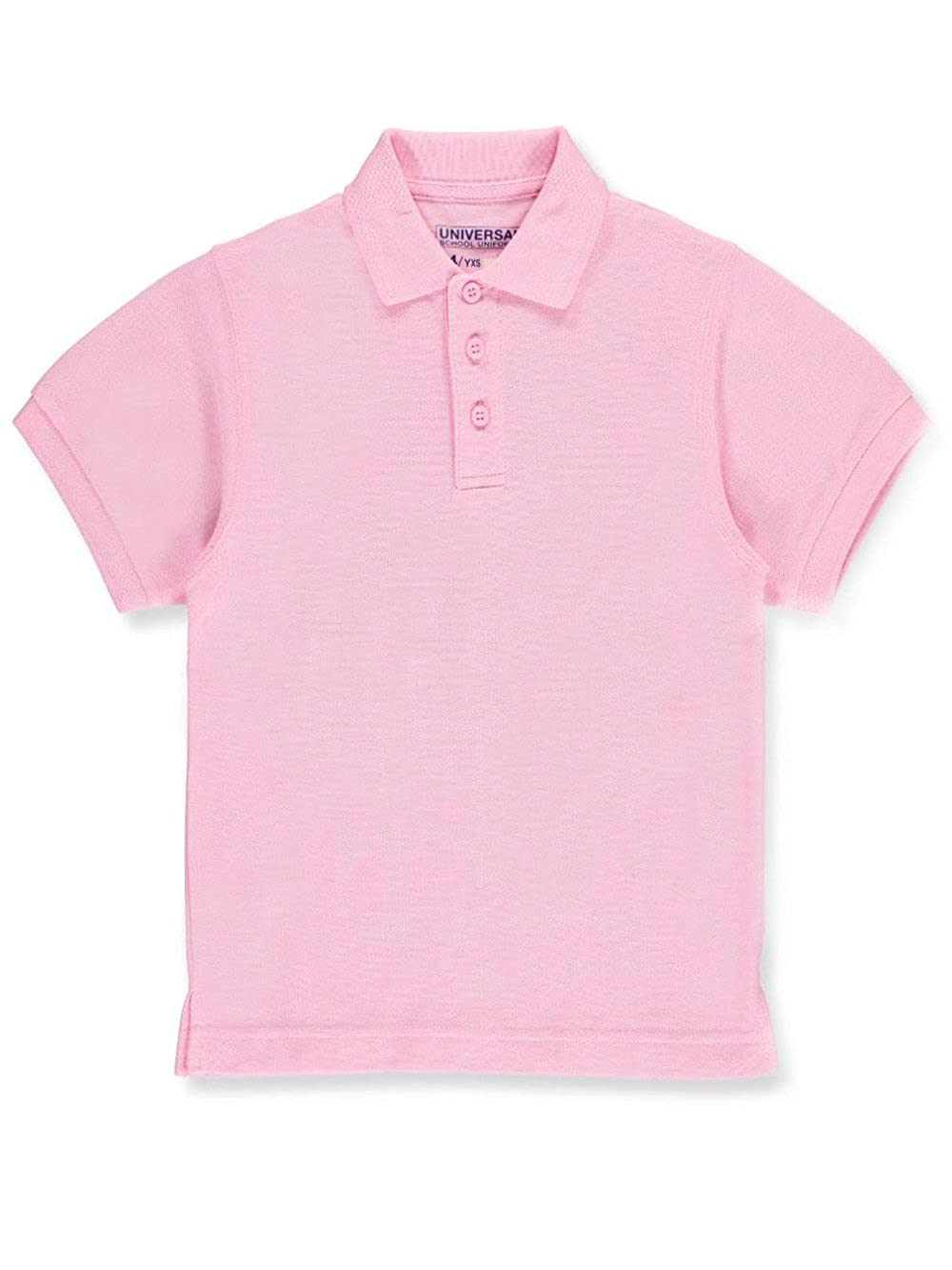 Children's Short Sleeve Pique Polo Shirt - Pink, 16 Universal 00_FSALFOCZ_02 Staniu838PNK16