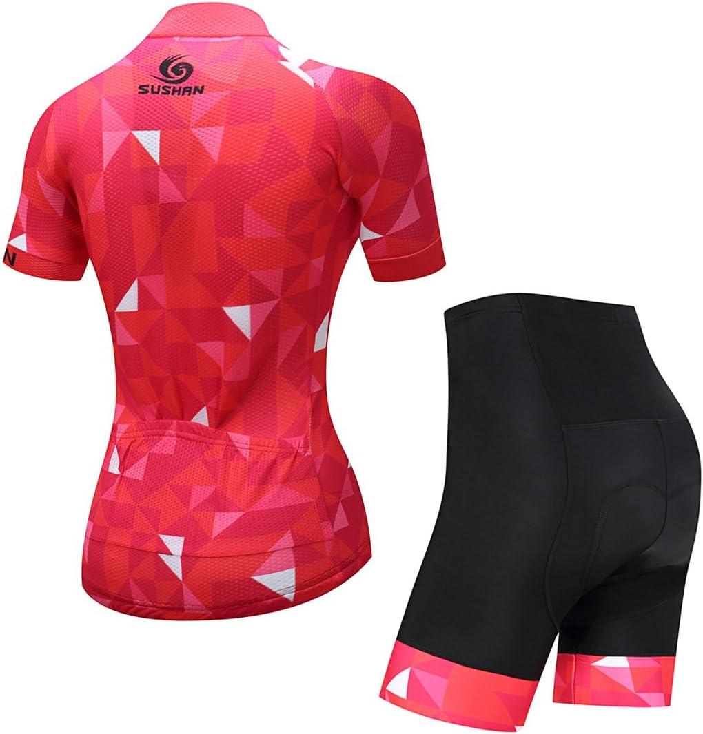 Conjunto de Maillot de Ciclismo de Manga Corta y pantal/ón de Ciclismo con Acolchado 3D para Ciclismo de monta/ña X-Labor