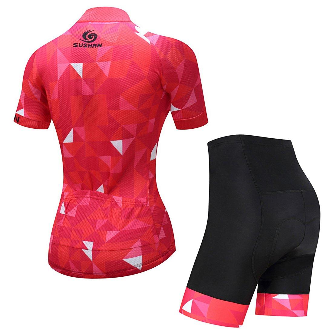 Culote Pantalones Acolchado 3D para Bicicleta Verano Deportes al Aire Libre GWELL Maillot Ciclismo Mujer Cclismo Conjunto de Ropa