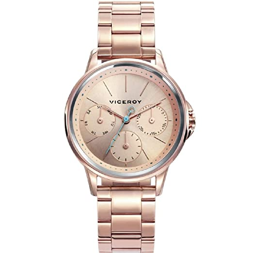 a3fb105aee70 Reloj Viceroy Air bpar Acero Rosa Mujer 461104-77  Amazon.es  Relojes