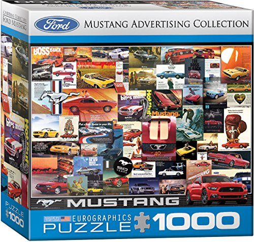 (EuroGraphics Ford Mustang Vintage Ads Small Box Puzzle (1000 Pieces))