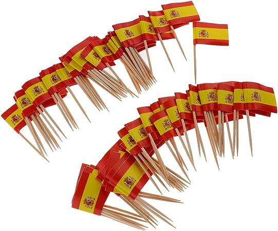Compra non-brand 100pcs Decorativos Palillos de Bandera Nacional Decoraciones de Comida - España en Amazon.es