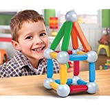 Colorful, Creative Discovery Kids 26-piece Magnetic Building Block Set