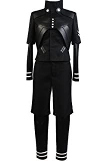 Ya-cos Halloween Mens Tokyo Ghoul Ken Kaneki Jumpsuit Battle Uniform Cosplay Costume