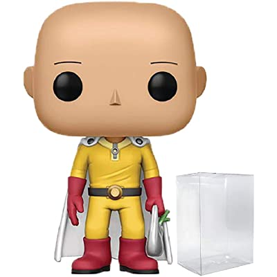 Funko Pop! Anime: One Punch Man - Saitama Vinyl Figure (Bundled with Pop Box Protector Case): Toys & Games