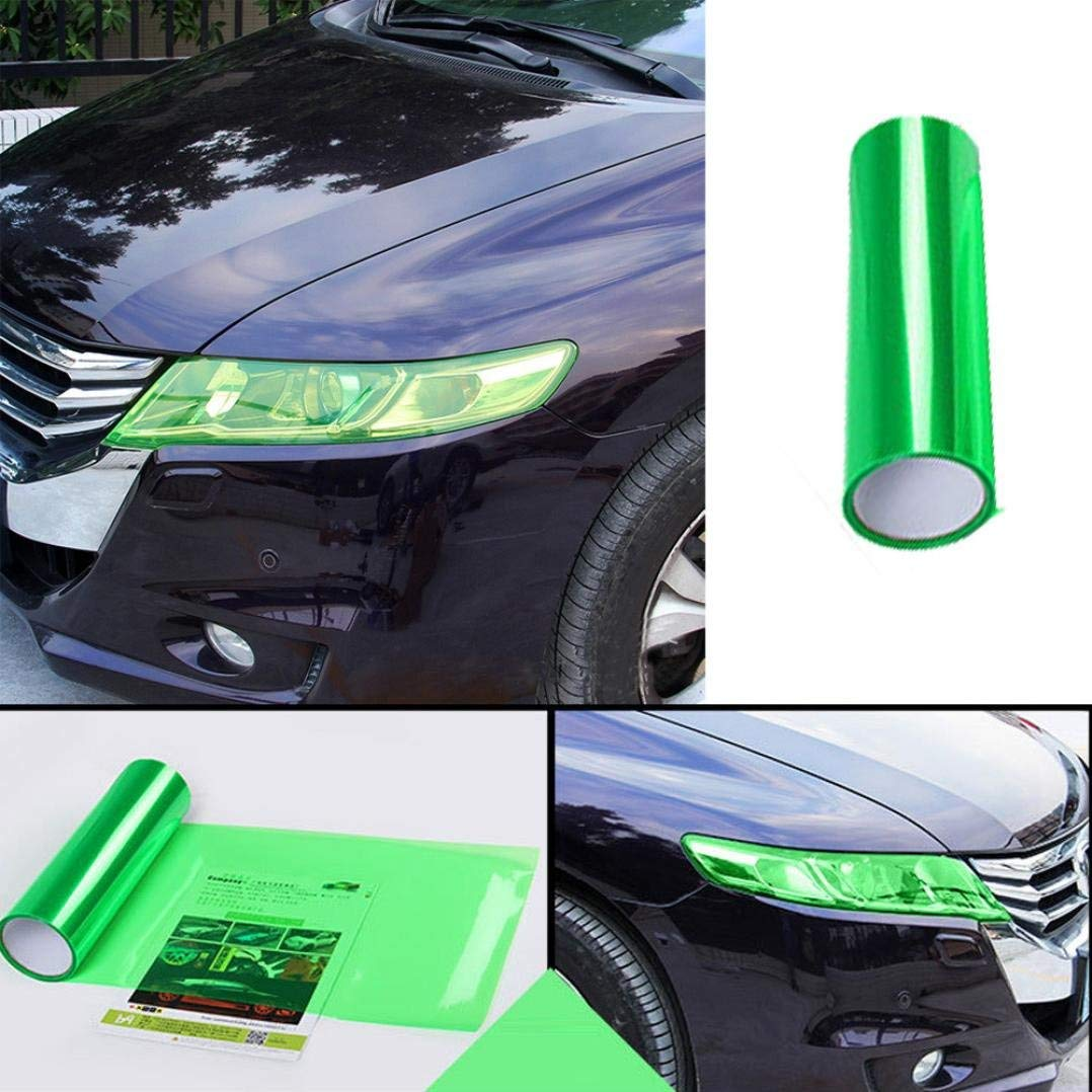 Amazon.com: Voberry Car Headlight Fog Lamp Protect Film Vinyl Wrap Overlays Sheet For All Car (Green): Musical Instruments