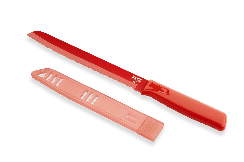 Kuhn Rikon Original Bread Knife Colori Red, 7-Inch
