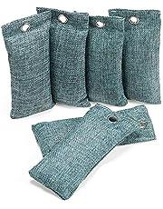 Dasing Kolfärgad luftreningsväska, garderob deodoriserare, skor lukt eliminator, bil luftrenare, luftfräschare för hemmet, 6-pack