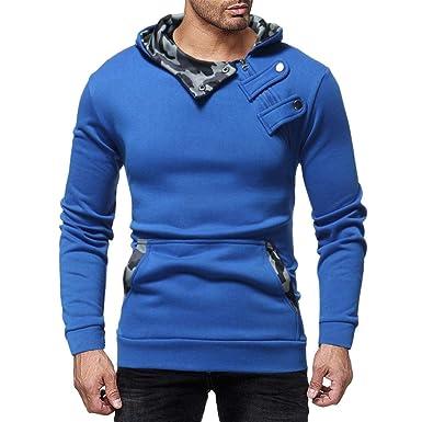 Otoño Invierno Blusa para Hombre 2018 Moda Sudadera con Capucha y Cremallera de Camuflaje Chaqueta de