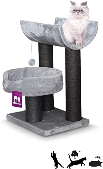 Petrebels Sweet Petite Lodge 75 - Árbol para Gatos, Color Gris: Amazon.es: Productos para mascotas