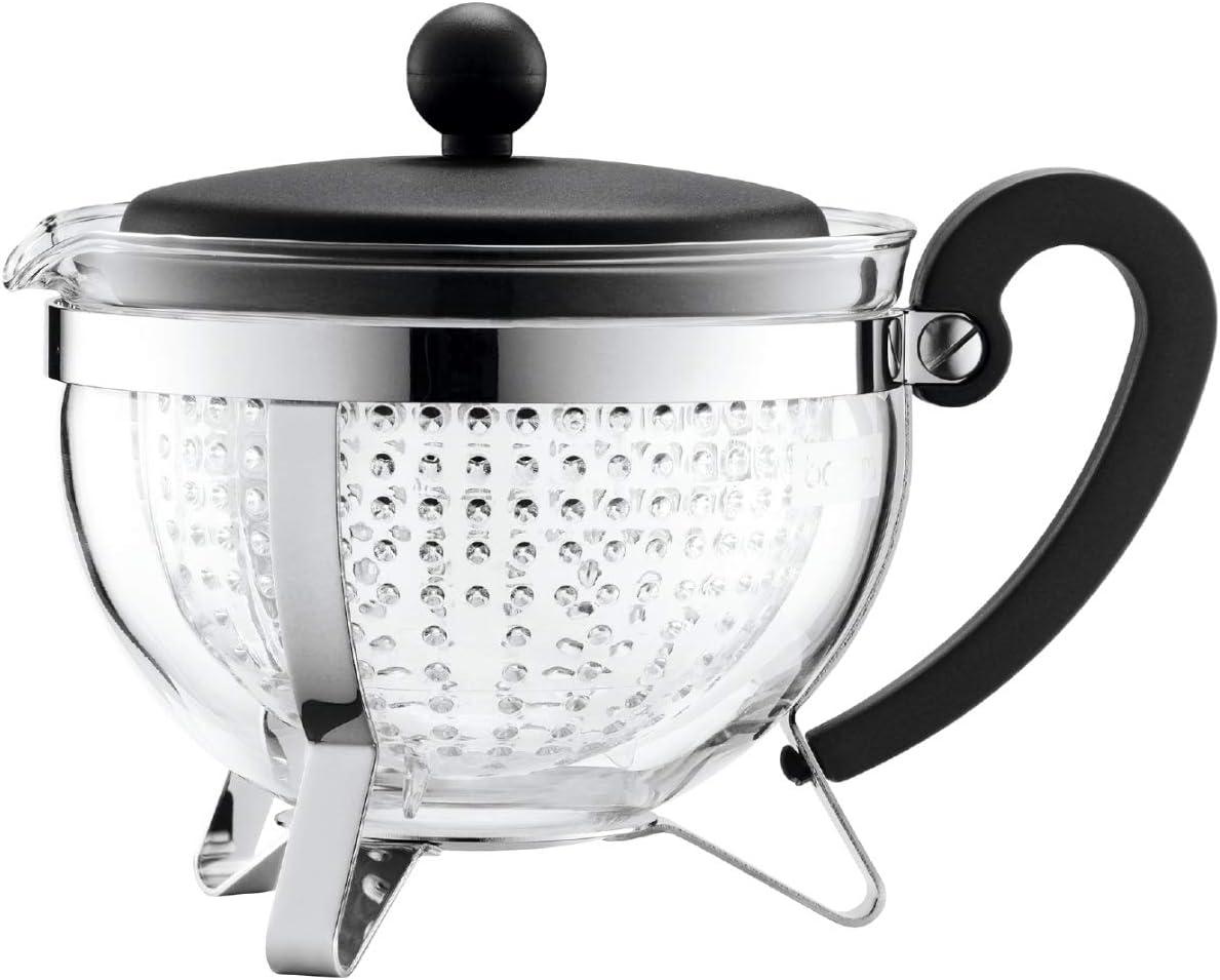Bodum Chambord 1-Liter Tea Pot, 34-Ounce, Black