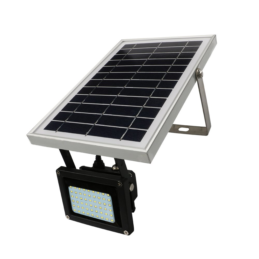 Ultra Bright Solar Flood Lights Outdoor - IP65 Waterproof 54 LED 400 Lumen White Solar Powered Security Floodlight Wide Area Lighting for Garden, Wall, Driveway, Deck, Patio, Yard, Farm, Pathway