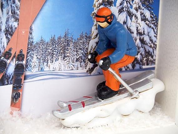 Zauberdeko Geldgeschenk Verpackung Ski Fahren Winterurlaub Skiurlaub