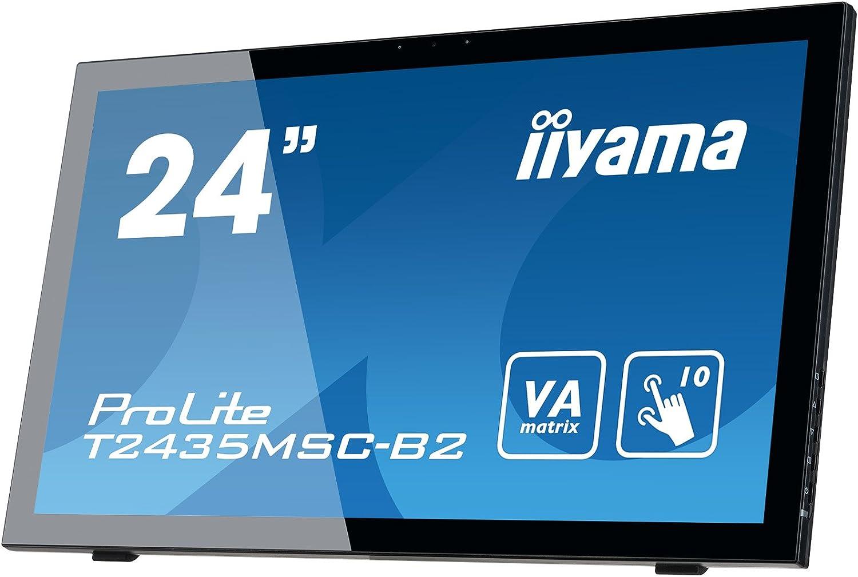 "liyama ProLite T2435MSC-B2 59,8 cm (23,6 "") VA LED-Monitor Full-HD 10 Punkt Multitouch Capacitivo (DVI, HDMI, DisplayPort, USB2.0, Webcam, Microfono) Nero"
