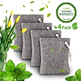 Air Purifying Bags, Bamboo Charcoal Bags Air Purifying Deodorizer Bags for Fridge Freezers Cars Closet Shoes Kitchens Basements Bedrooms Living Areas - Keeps Rooms Fresh, Dry - Air Purifying Bag 200G