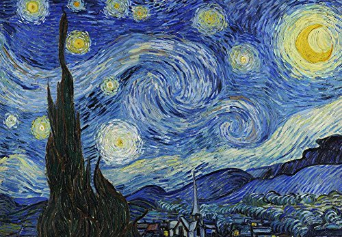 Starry Night by Vincent Van Gogh Dutch Impressionism 20th Century Artist Peel and Stick Large Wall Mural Removable Wallpaper