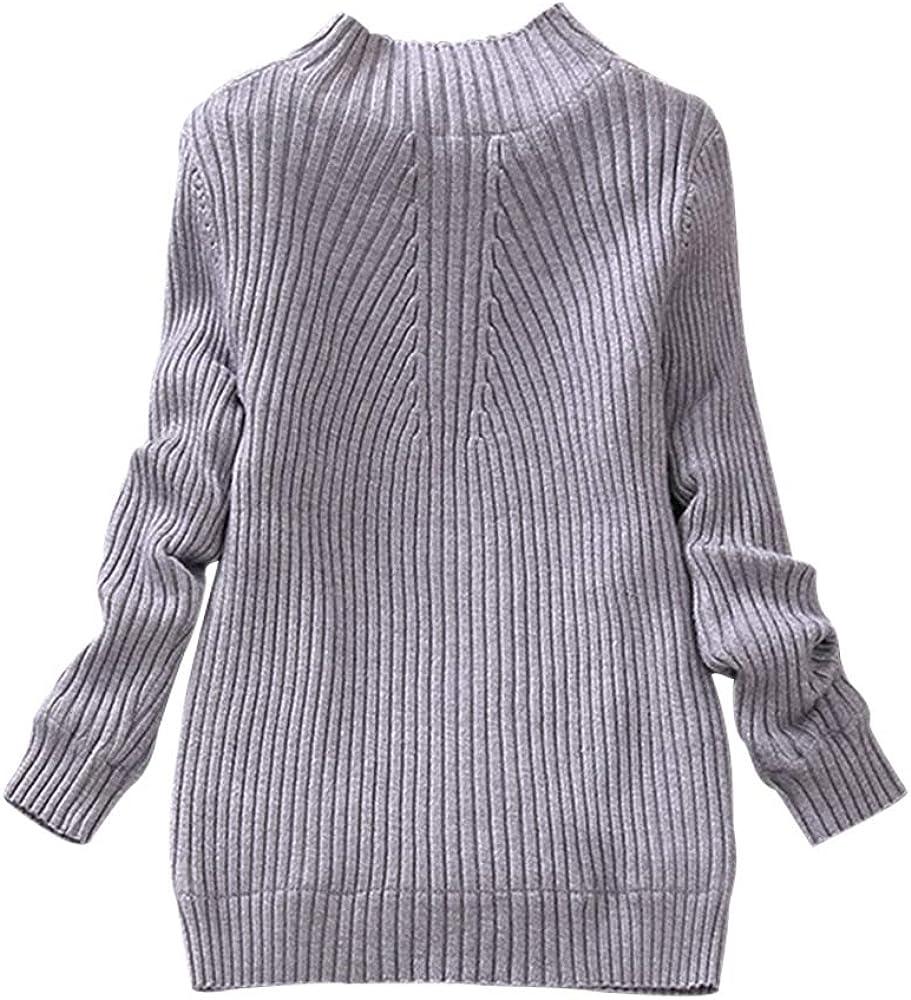 BOZEVON Childrens Bottom Knitwear Spring Autumn Girls High Collar Wear