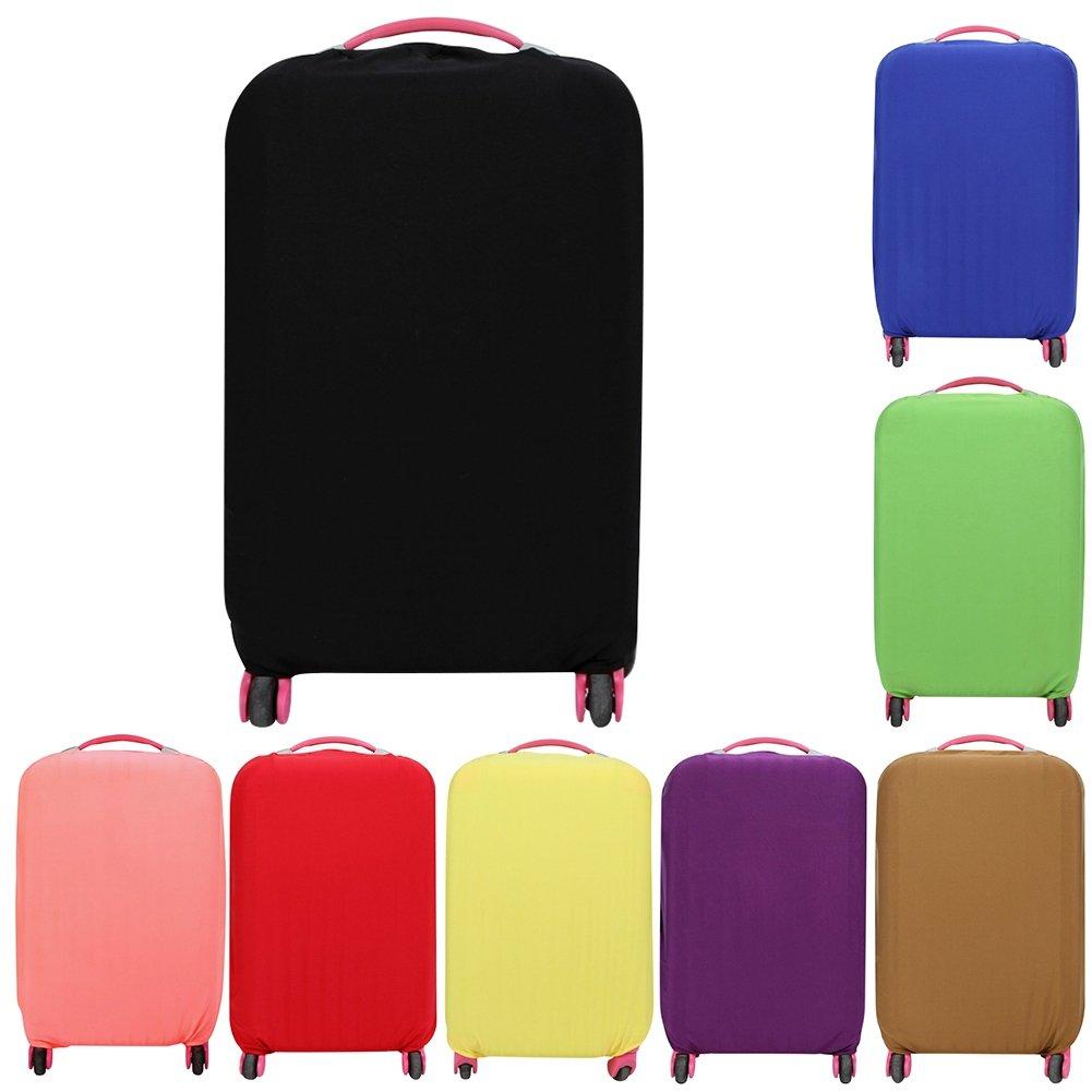 Loveble Housse de Protection de Valise Simple Couverture Classique de Bagages de Voyage pour 18-26 Pouces Flexible et Velcro MKenr5