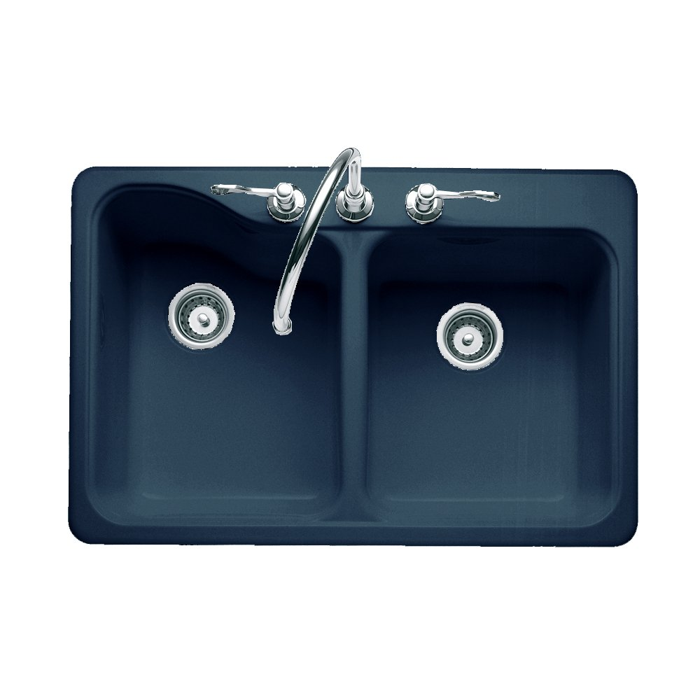 American Standard 7145.804.209 Silhouette 33-by-22-Inch Double Bowl ...
