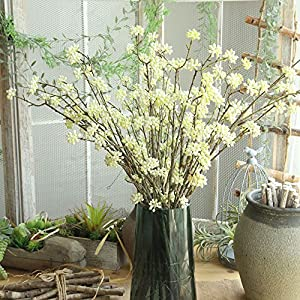 Fake Flowers Home Garden Kitchen Accessories Artificial Flora Plants gypsophila Floral Flower Silk Wedding Party Bouquet Decor 36