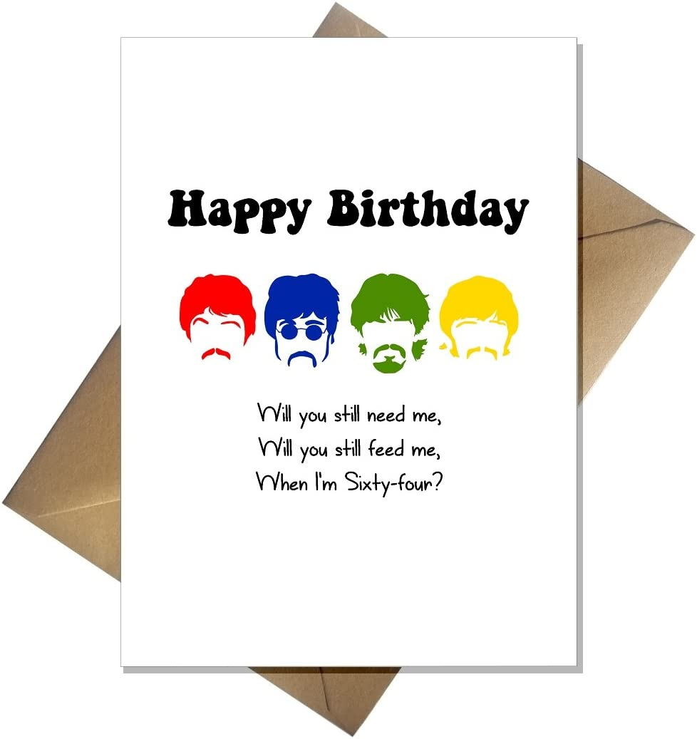 The Beatles When I'm Sixty Four Birthday Card