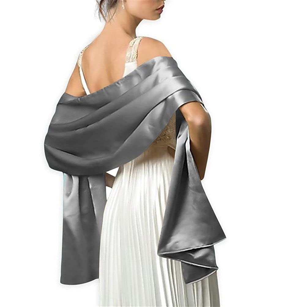 Aimeely Classic Satin Bridal Prom Shawl Wrap Evening Dress Scarves For Women