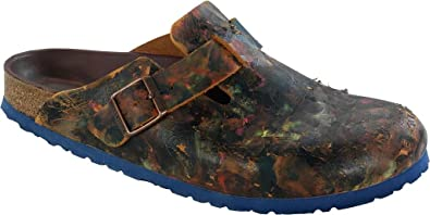 Birkenstock Clogs Boston aus echt Leder in vintage brown all over color mit schmalem Fussbett