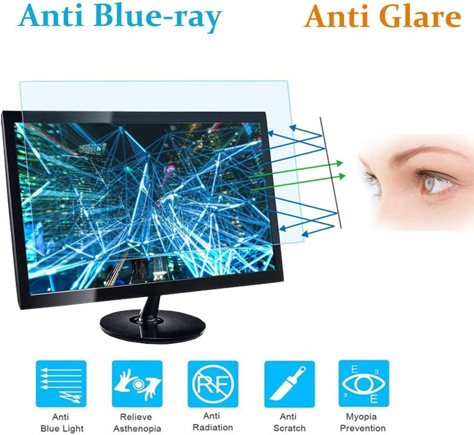 Size: 20.35 Width x 12.71 Height MZaxam 24 Monitor Screen Protector Blue Light Filter Blue Light Blocking Anti Glare Screen Protector for Diagonal 24 with 16:10 Widescreen Desktop Monitor