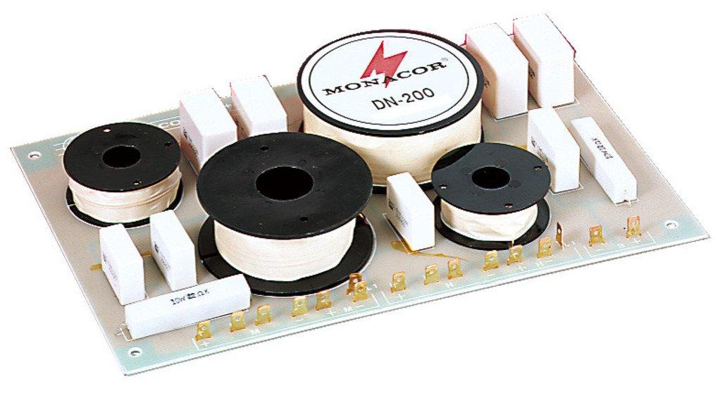 MONACOR DN-200 3-Wege-Weiche 8 ohm, Hochwertige Bauteile, Belastbarkeit 400W fü r den Innenbereich mit Luftspulen und Folienkondensatoren gefertigt MONACOR INTERNATIONAL 12.0170