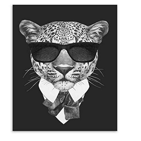 zgmtj Moda Mafia en Blanco y Negro Hipster Animales Perro ...