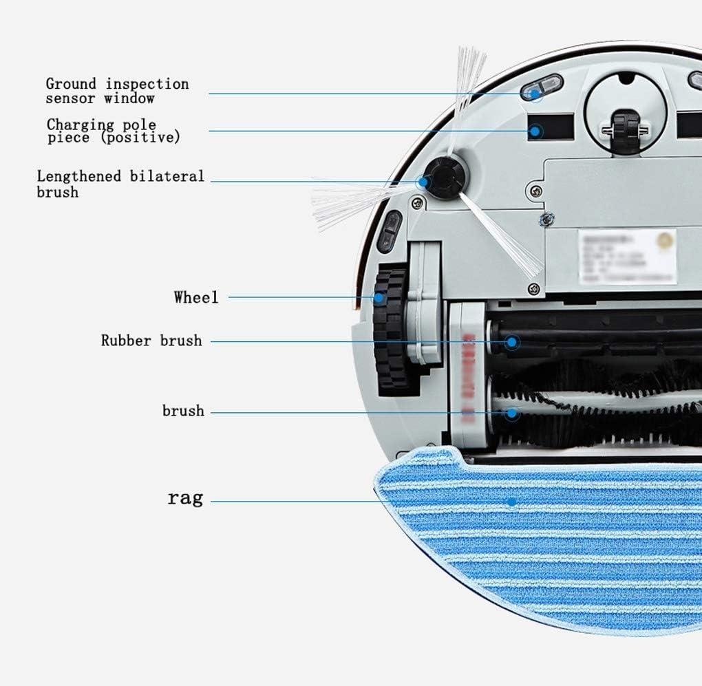 Smart Robot Aspirateur Télécommande Infrarouge et Design Mince, Anti-Collision, Anti-Chute pour éviter Les Obstacles pour Poils d\'animaux, Tapis durs, Carreaux (Color : Red) Gold