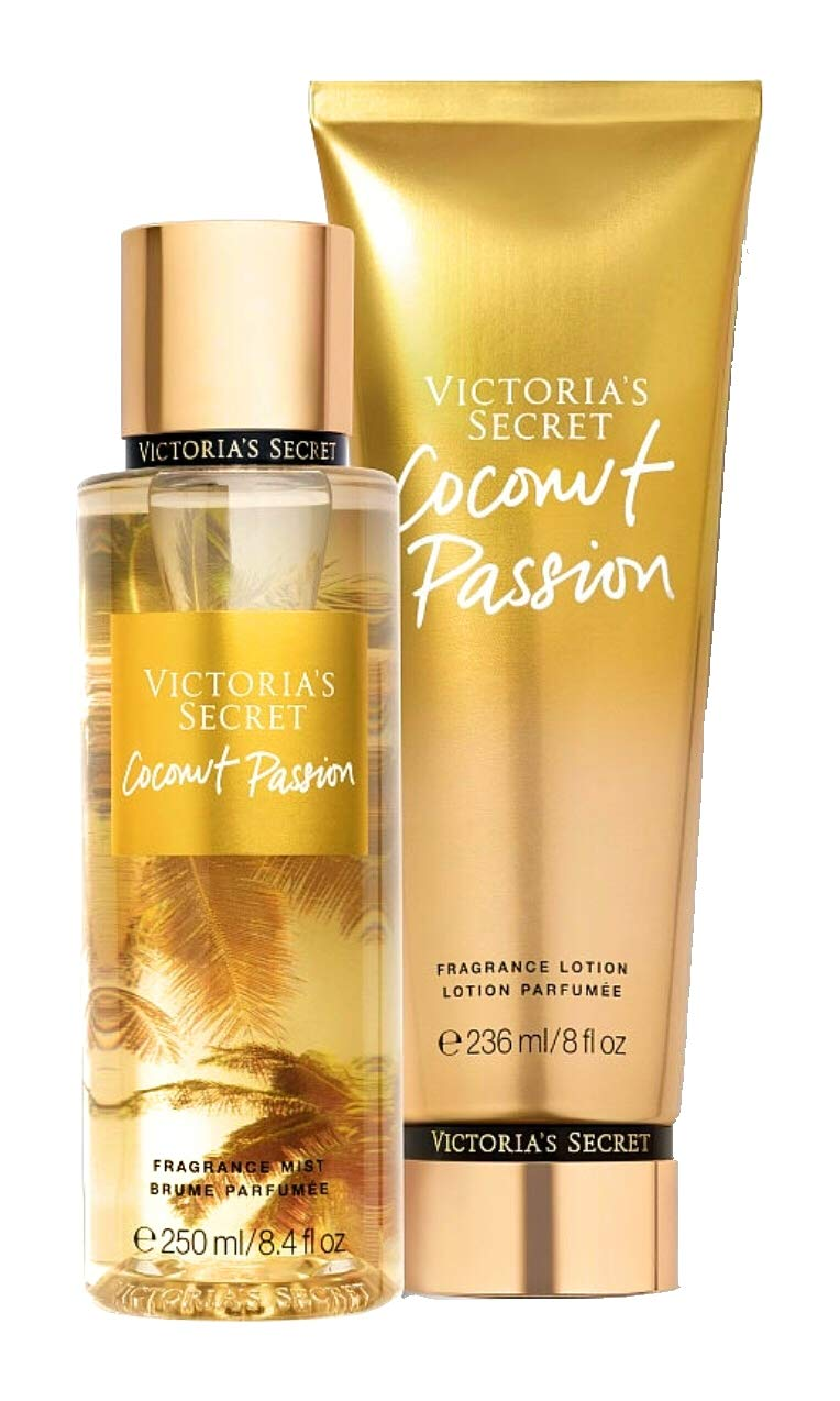 Victoria Secret Coconut Passion Fragrance Body Mist & Lotion Set
