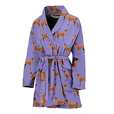 ANI   WOOD Irish Terrier Dog Pattern Print Women s Bath Robe at ... 8c6022385