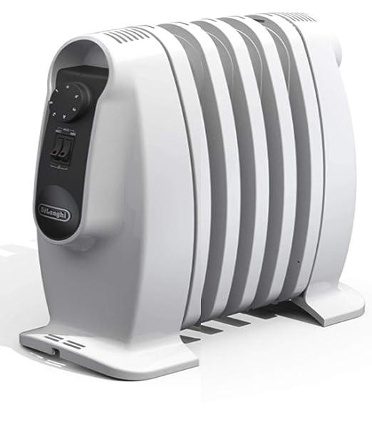 DeLonghi TRNS 0505M Interior Blanco 500W Calentador eléctrico de aceite - Calefactor (Calentador eléctrico de aceite, Interior, Piso, Blanco, Giratorio, 500 ...