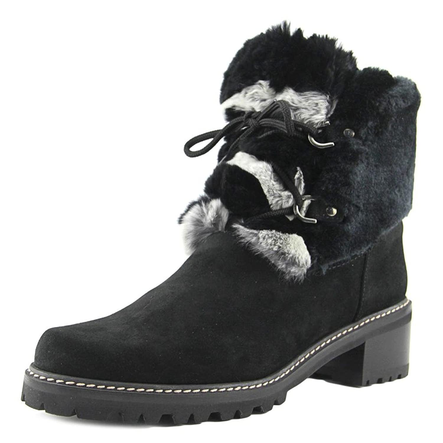 Stuart Weitzman Furnace Women Round Toe Suede Black Boot