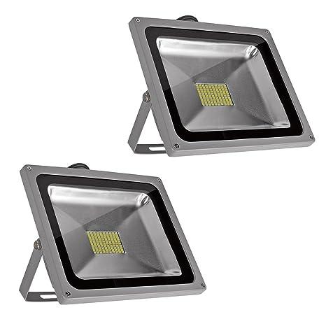 PrimLight 2 pcs 80W SMD Impermeable Reflector del LED,Luz de Seguridad,Proyector Ahorro