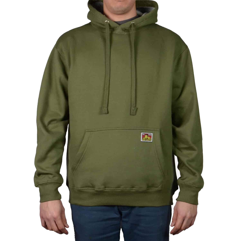 Ben Davis Mens Heavyweight Hooded Pullover Sweatshirt