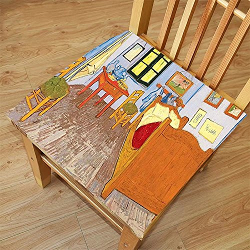 Nalahome Set of 2 Waterproof Cozy Seat Protector Cushion Van Gogh Rustic Van Gogh Artwork Oil Painting Reproduction Fabric Home Accessories Decorations House Pictures Sweet Fa Printing Size - Sunglasses Dries Van Noten