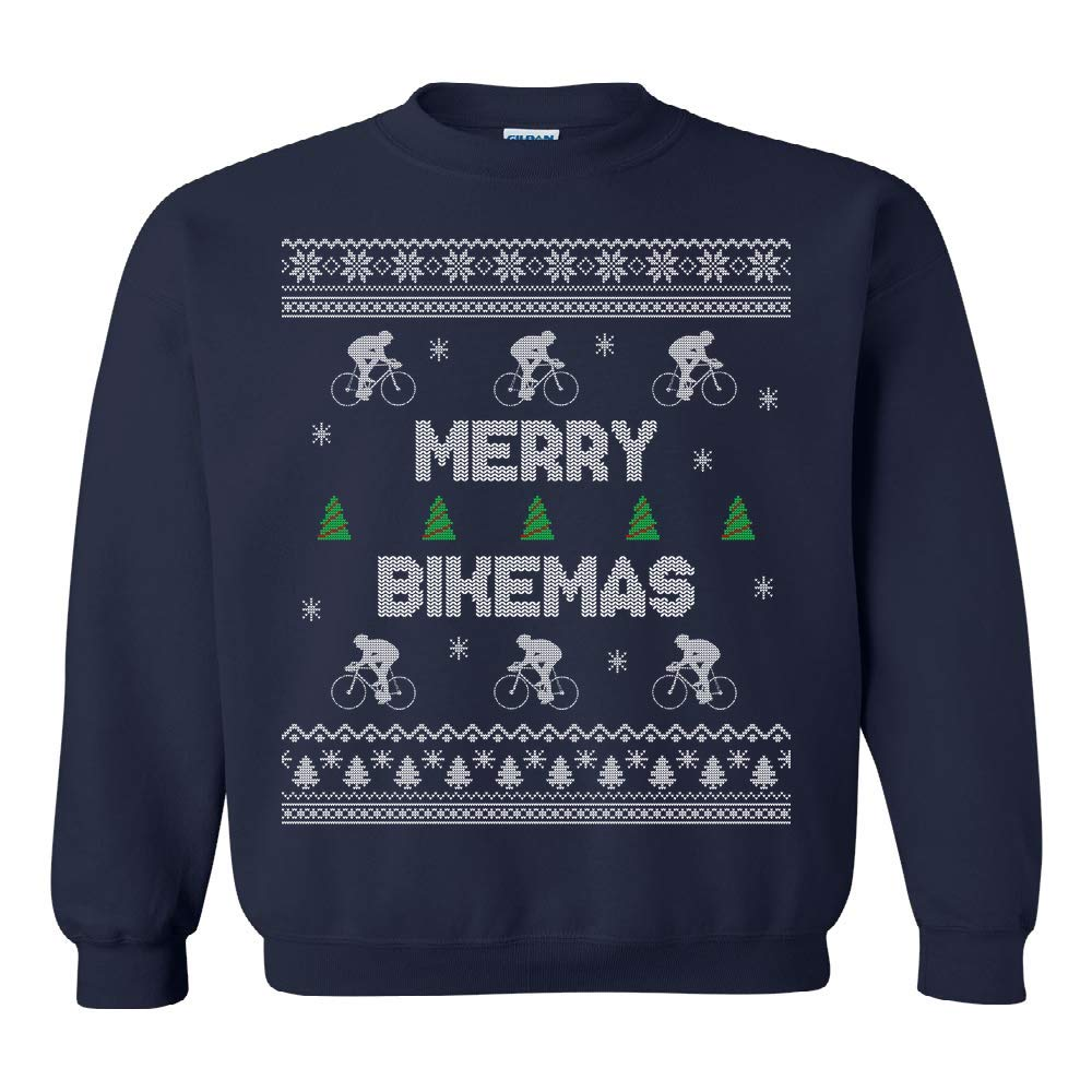 Amazon.com  Cycling Ugly Christmas Sweater - Cyclist Ugly Christmas Sweater  - Bicycle Christmas Sweatshirt - Ugly Christmas Jumper - Merry Bikemas   Clothing b097d5a06