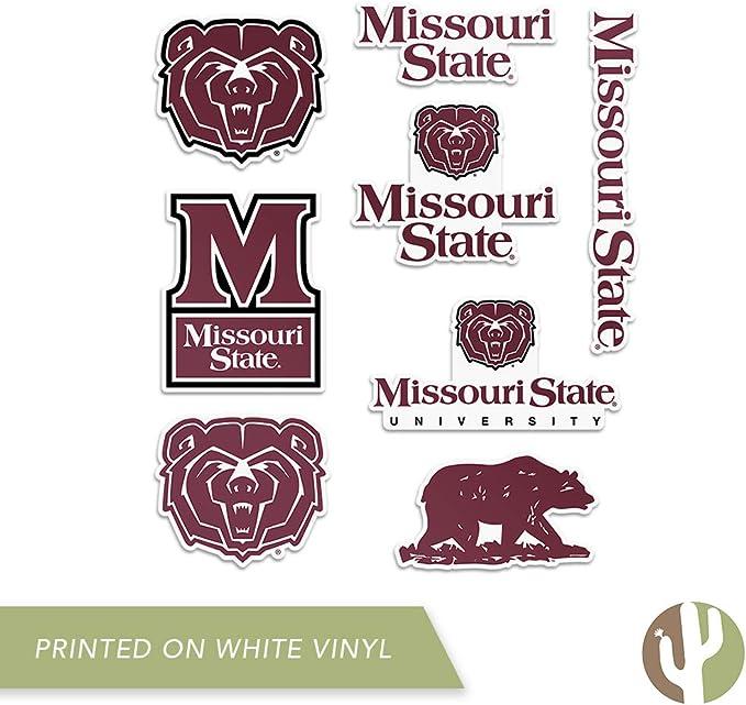 Sticker - 00017A Missouri State University MSU Bears NCAA Vinyl Decal Laptop Water Bottle Car Scrapbook