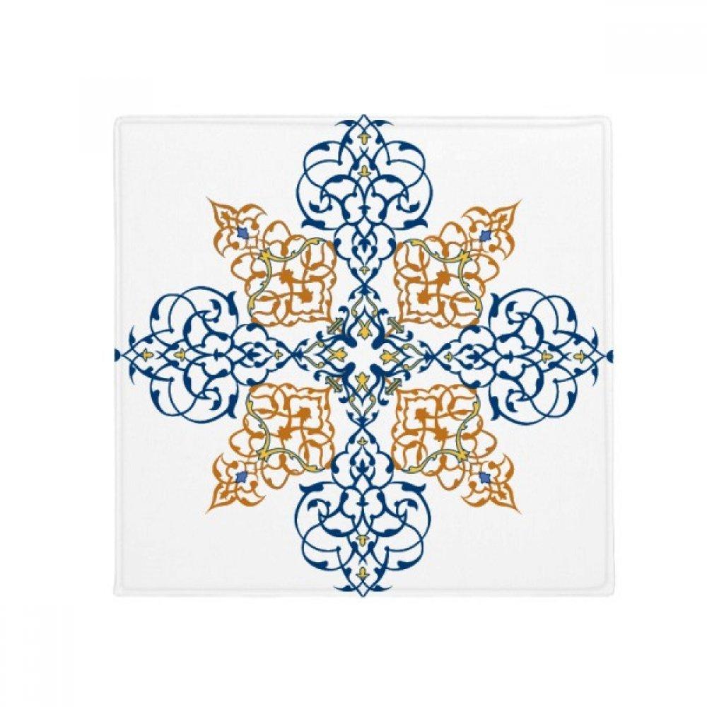 DIYthinker Flower Leaf Parallel Repeat Modern Pattern Anti-Slip Floor Pet Mat Square Home Kitchen Door 80Cm Gift