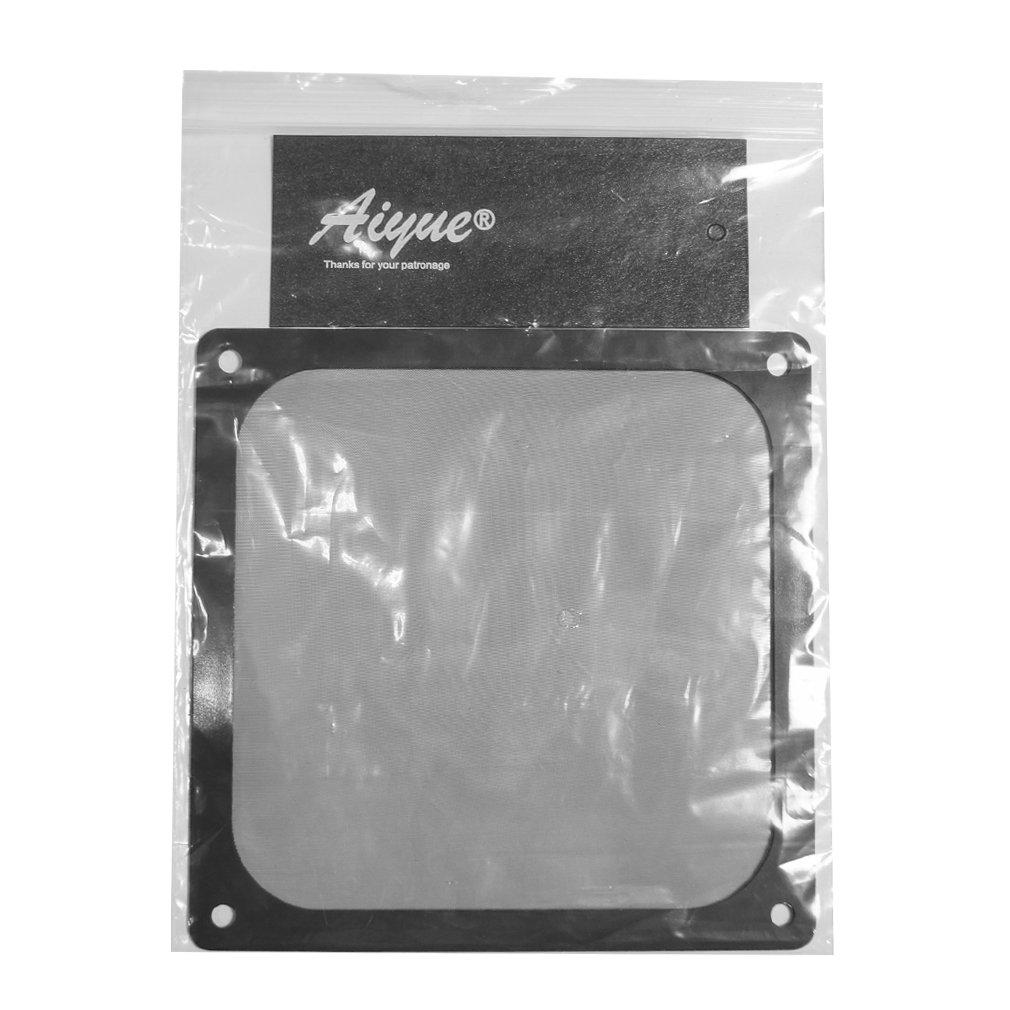 AIYUE 140mm Ultra Fine Magnetic Frame PC Fan Dust Filter Dust Filter Fan Filter PC Cooler Filter Black Dustproof Case Cover Computer Mesh Computer Fan Grills 2 Pack