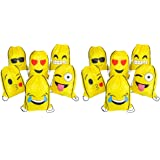 RIN EMOJI Assorted Emoticon Party Favors Drawstring Backpacks, 12-Pack, 16x13-Inch