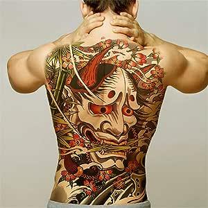 tzxdbh 2Pcs-Large Full Back Tattoo Maori Power Totem Impermeable ...