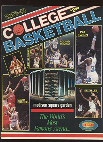 1983 NCAA Basketball Program Depaul vs. St. Johns At Msg Ex+ ()
